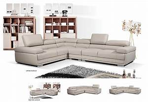 modern gray leather sectional sofa ef119 leather sectionals With gray sectional sofa