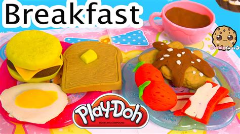 play doh cuisine playdoh food breakfast maker molds playset play doh plasticine unboxing cookieswirlc