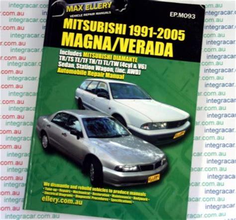 vehicle repair manual 2005 mitsubishi diamante regenerative braking mitsubishi magna v6 verada ellery repair manual 1991 2005 workshop car manuals repair books