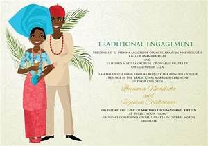 nigerian traditional wedding invitation card With example of traditional wedding invitation card