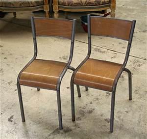 Paille En Metal : chaise bois metal occasion table de lit ~ Teatrodelosmanantiales.com Idées de Décoration