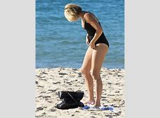 Sylvia Jeffreys shows off her slender figure in a one