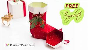 Free Template  How To Make Paper Christmas Stocking
