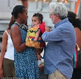 George Lucas, 69, dotes on his five-month-old daughter ...
