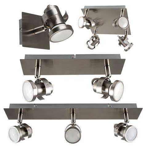 kitchen spot lighting details about brushed chrome adjustable led gu10 ceiling 3094