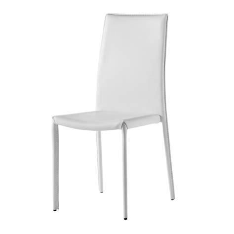 chaise design blanc chaise design simili cuir blanc gold