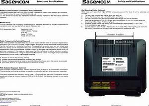 Sagemcom Broands Fast5260cv Fast 5260cv Home Router User