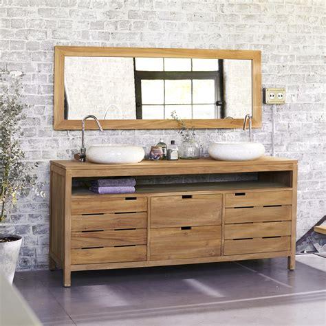 meuble de salle de bain en teck leroy merlin cuisine meuble sous vasque bois meubles sous vasque salle