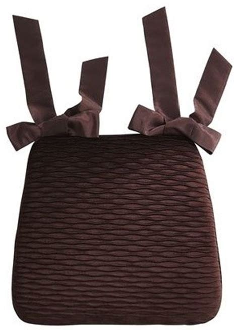 pier 1 dining chair cushions pleated velvet dining cushion chocolate contemporary