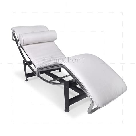 le corbusier chaise longue le corbusier style lc4 chaise longue white leather