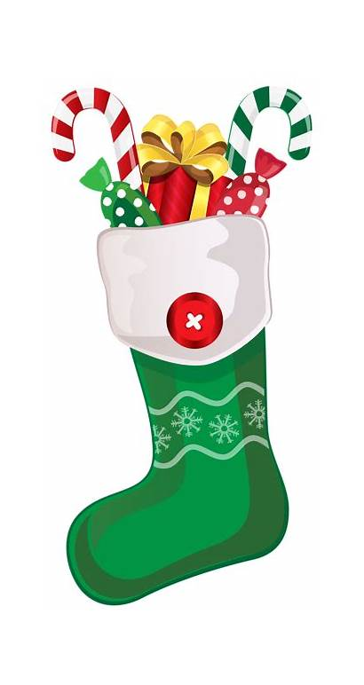 Christmas Clipart Stocking Candy Canes Transparent Yopriceville