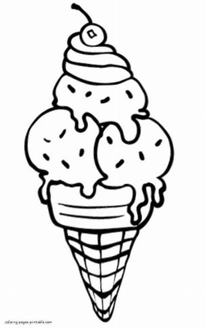 Ice Cream Coloring Printable Dibujos Colorear Coloriage