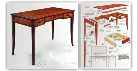 build writing desk woodarchivist
