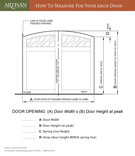 How To Measure A Garage Door by How To Measure For New Arched Garage Doors Artisan