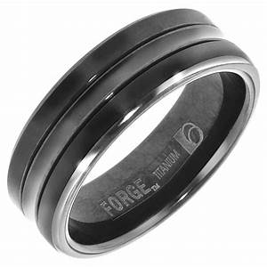 15 best ideas of black titanium wedding bands for men for Wedding ring black titanium