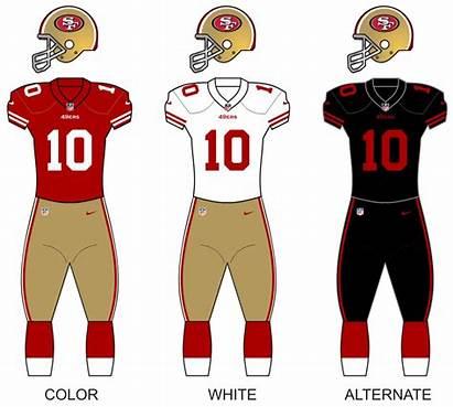 49ers Francisco San Uniforms Wikipedia Colors Uniform