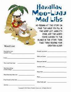 Moo-Luau Mad Libs – Printable Games