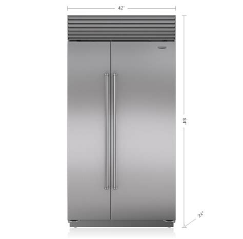 "42"" Built In Side by Side Refrigerator/Freezer   BI 42S/S"