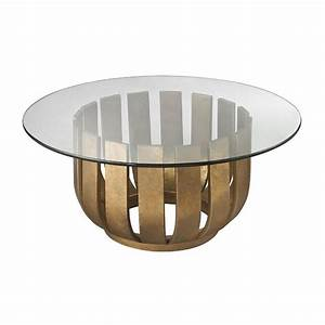 gold leaf olympia coffee table With round glass coffee table with gold base