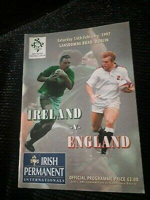 1997 IRELAND V ENGLAND 5 NATIONS TRIPLE CROWN ...
