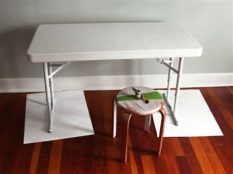 upcycle  plastic folding desk   chic desk  tos