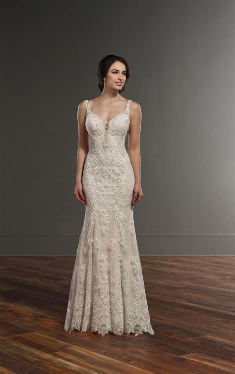 Wedding Dresses Lace Column Wedding Dress With Lattice