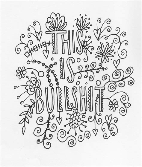 Printable Coloring Quotes by Quote Coloring Page Instant Line
