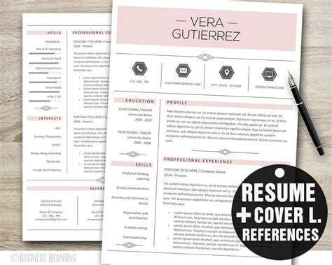 pink resume template word professional resume template