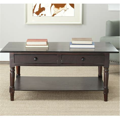 Coffee Table Wooden Distressed Storage Furniture Two
