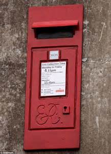 where posting letters takes first class effort royal mail With letter collection box