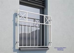 Französischer Balkon Pulverbeschichtet : franz sischer balkon md05ap pulverbeschichtet wei ral9016 deutschland ~ Orissabook.com Haus und Dekorationen