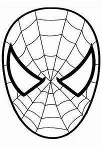 Ausmalbild Spiderman Den Spinnenmann Maske Karnevalove