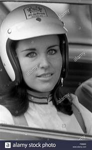 Race Car Driver Wearing Helmet Black And White Stock