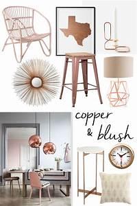 Rose Gold Decor : copper and blush home decor ~ Teatrodelosmanantiales.com Idées de Décoration