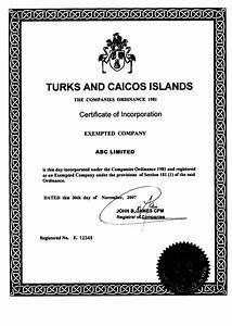 share certificate template australia - turks and caicos islands offshore zones offshore and