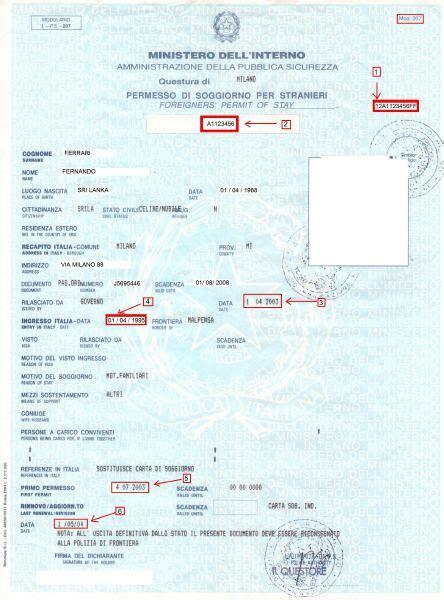 permesso di soggiorno stranieri permesso di soggiorno dal 15 ottobre nuovo modello