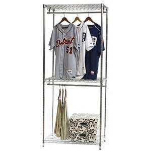 Closet Corner Shelving by Wire Shelving Closet Organizer W Double Hang Storage 18