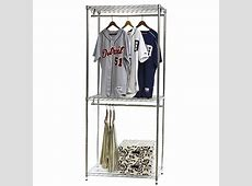 Wire Shelving Closet Organizer w Double Hang Storage 18
