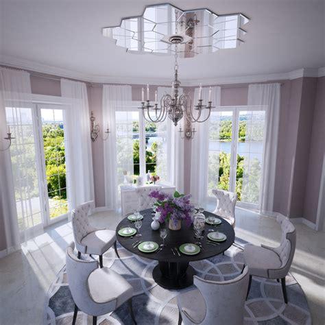 mirrored ceiling rose interior design ideas