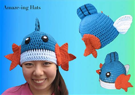 ravelry mudkip inspired hat pattern by wiles