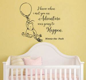 classic winnie  pooh wall decals quotes nursery kids room decor piglet mn ebay