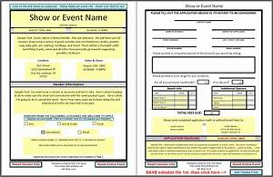 dfwcraftshows vendor applications part iii the template With event vendor application template
