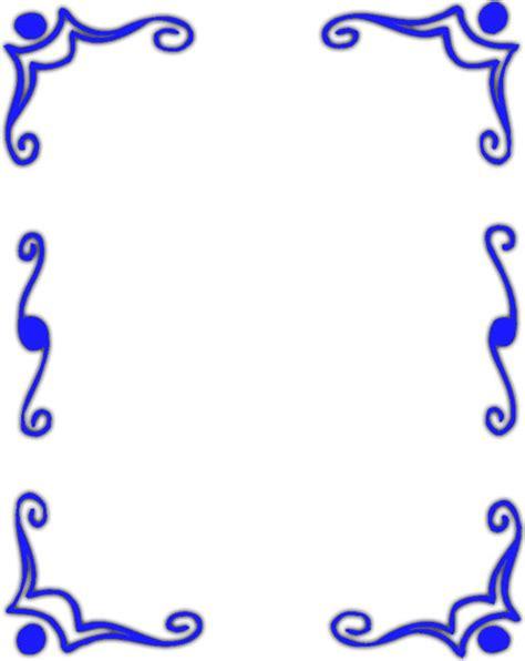 blue borders border clipart blue white frames