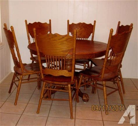 oak clawfoot table for sale 48 quot round solid oak table eagle ball and claw feet and 6