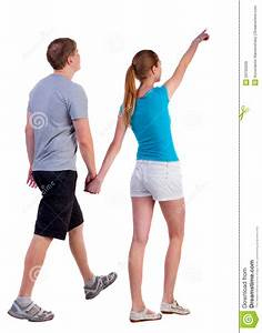 Back View Of Walking Young Couple Stock Image - Image of ...