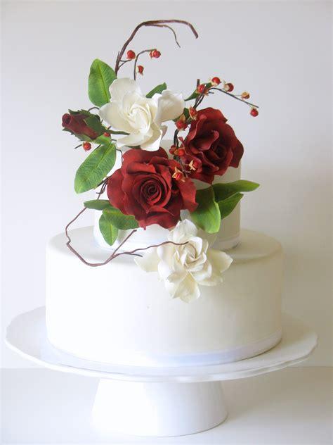sugar flowers  mom deep red gumpaste roses