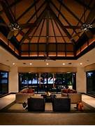 High End Contemporary Interior Design Decoration Ideas Tropical House With Large Living Room And High Ceilings