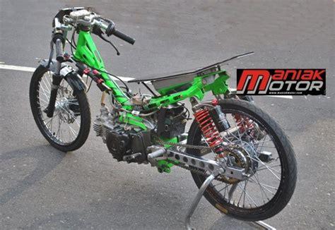 Modif Jupiter Z Drag by Modifikasi Jupiter Z Drag Bike Kruk As 8 1 Detik Di