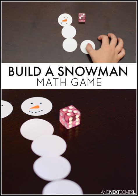 build  snowman math game