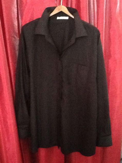 foxcroft blouses no iron foxcroft blouse black cotton no iron size 24 retails 74
